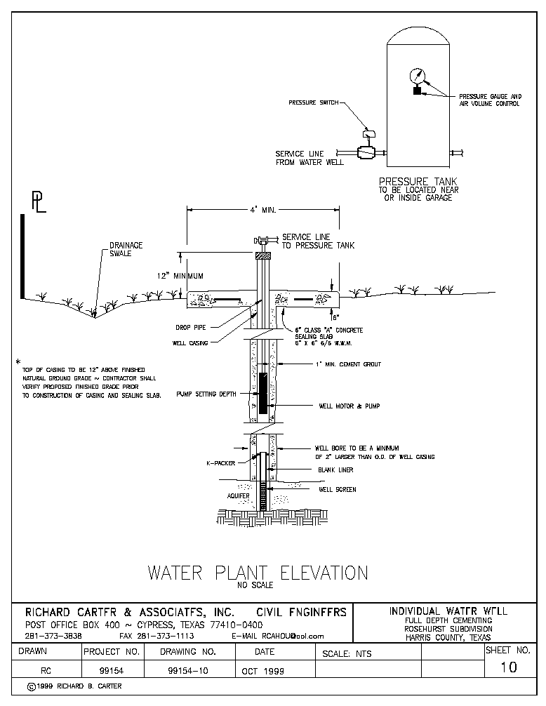 Water Well Specifications